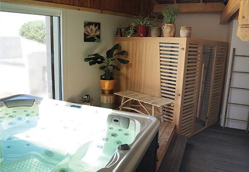 spa sauna espace détente Le Palmier